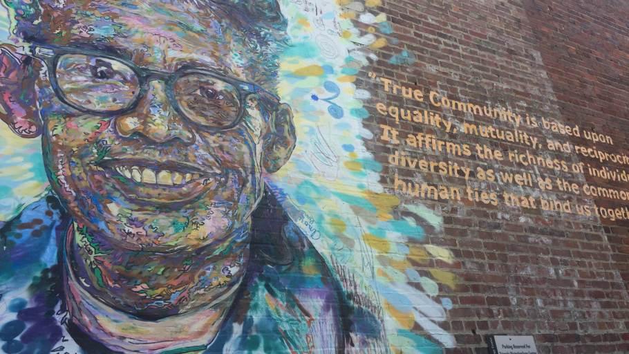 """Pauli Murray and True Community"" mural by Brett Cook"