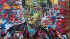 """Pauli Murray Roots and Soul"" mural by Brett Cook"