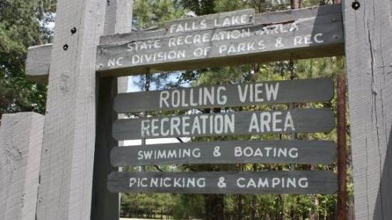 Rolling View State Recreation Area at Falls Lake